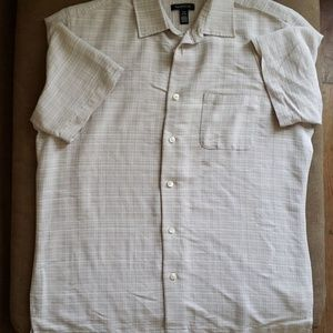 Van Heusen Never Tuck Beige Casual Shirt